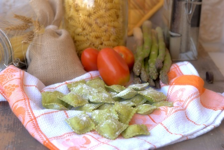 Ravioli with asparagus Stock Photo - 10422028