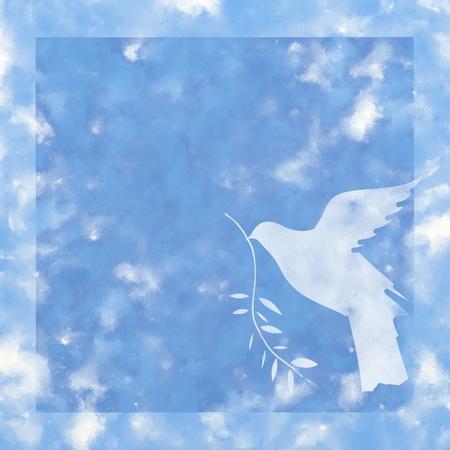 fraternidad: paloma de la paz Foto de archivo