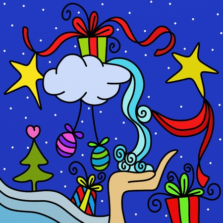 Christmas abstract background with gifts Stock Photo - 10591231