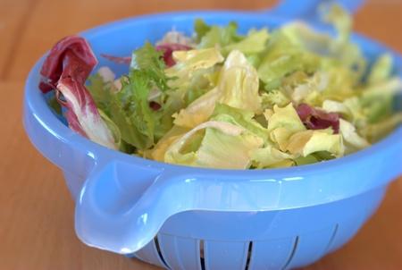umyty: washed salad