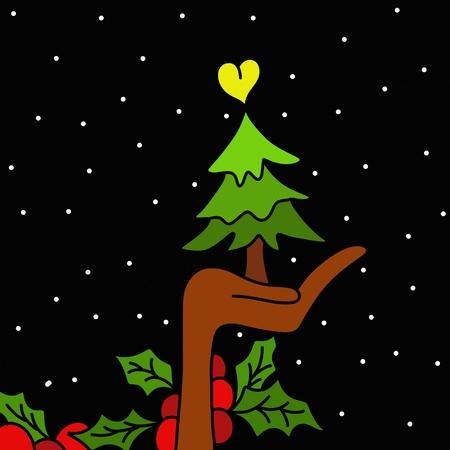Black Christmas decoration Stock Photo - 10659221