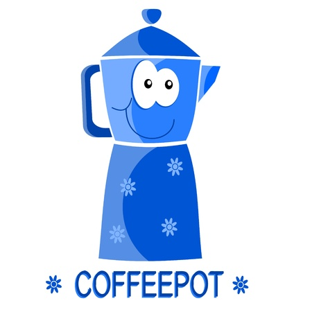 coffeepot: nice coffee Illustration