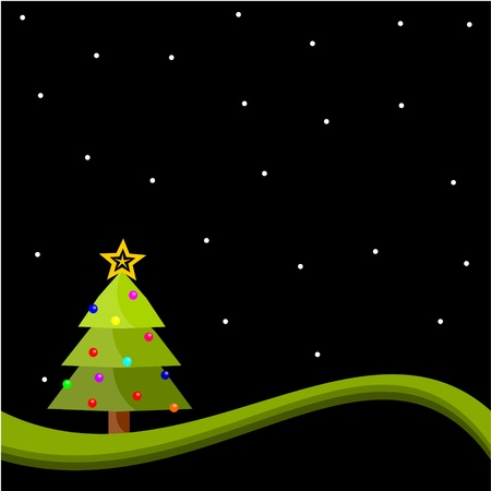 religious christmas: background with christmas tree