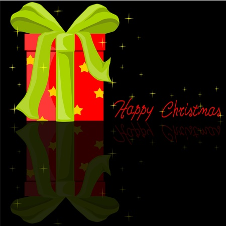Red Christmas gift Vector