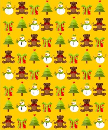 yellow Christmas decoration paper photo