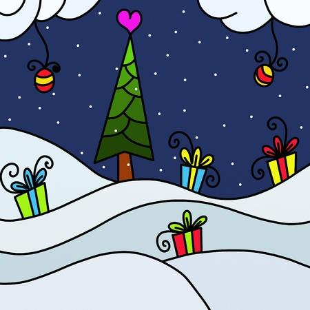 Christmas landscape photo