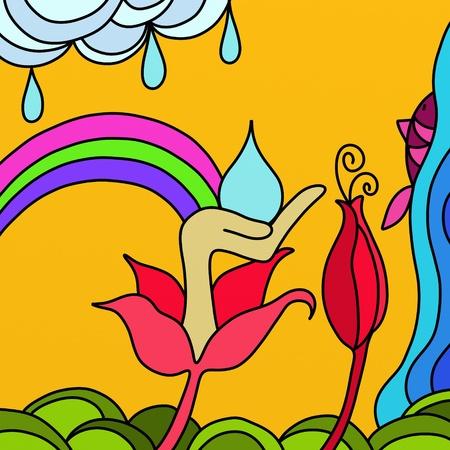 rainbow fish: abstract rainbow