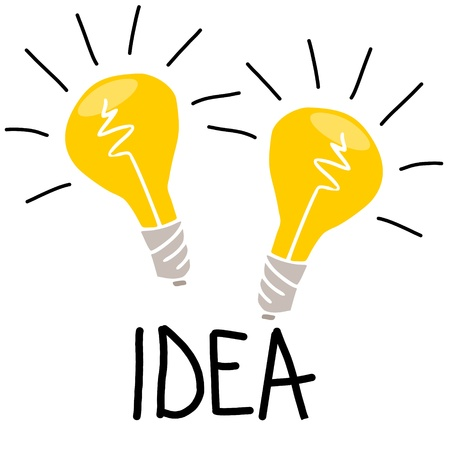 light bulb idea: idea Illustration