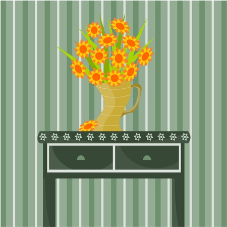 vase of flowers Stock Vector - 11032007