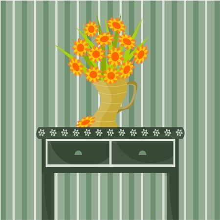 vase of flowers Stock Vector - 11032007