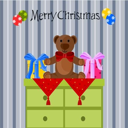 Christmas teddy bear Stock Vector - 11032009