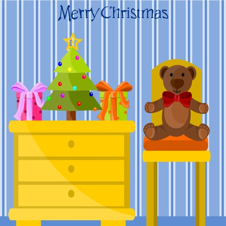 Christmas room Stock Vector - 11032013