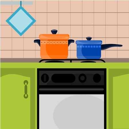 home accessories: green kitchen