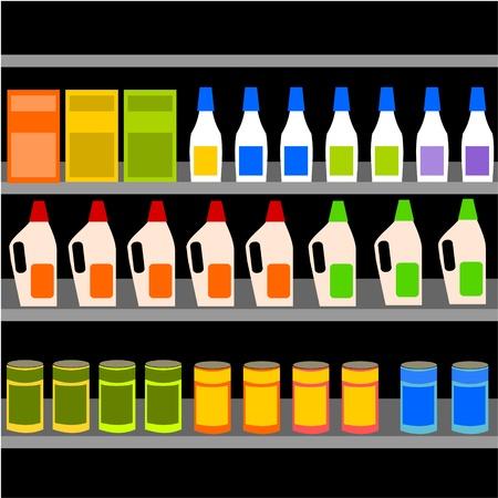 schoonmaakartikelen: reinigingsmiddelen Stock Illustratie
