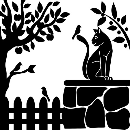 flora fauna: garden Illustration