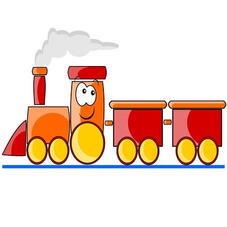 zug cartoon: rote Zug