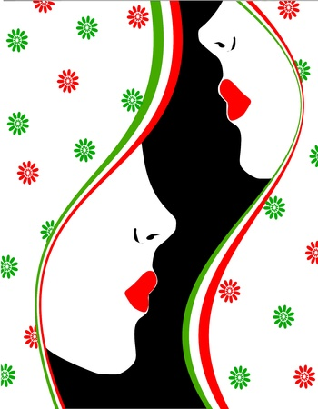 background profile of women Stock Vector - 12947810