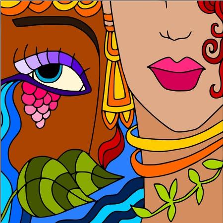 earring: woman Illustration