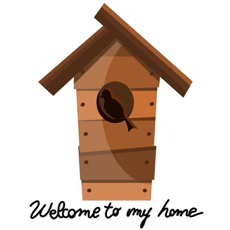bird house: nest