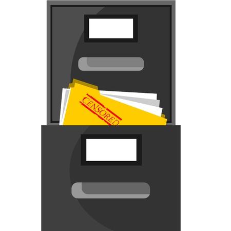 censored document Stock Vector - 11895075