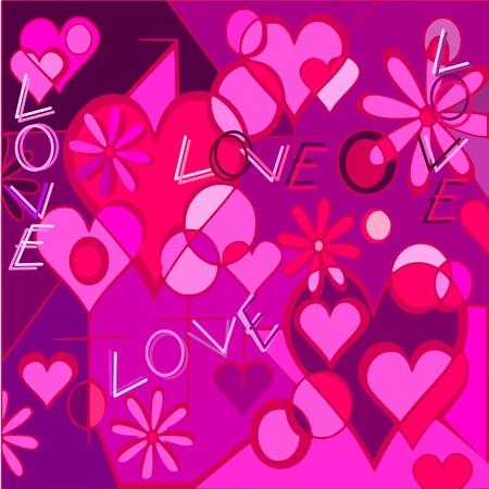 postcard background: valentine