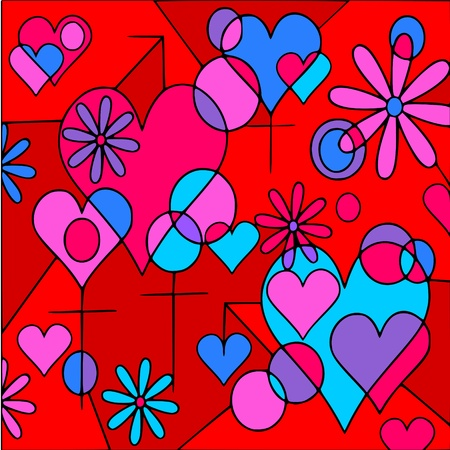 love abstract Vector