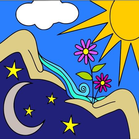 estrella de la vida: d�a y noche