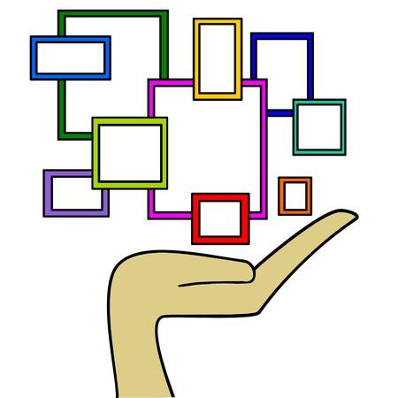 label frame: rectangles Illustration