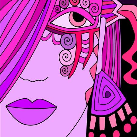 fantasy makeup: carnival