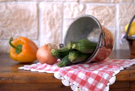 zucchini and pepper photo