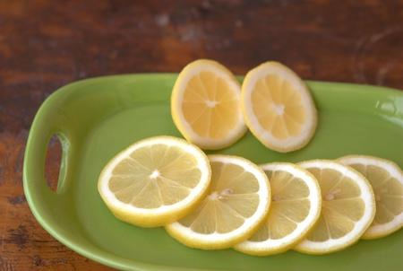lemon slices: fette di limone Archivio Fotografico