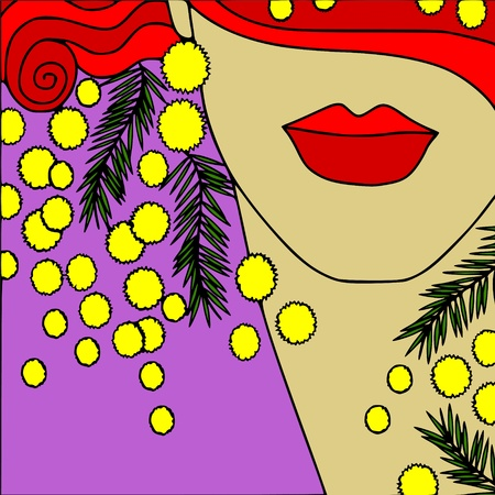 mimosa: abstract background with mimosa Illustration