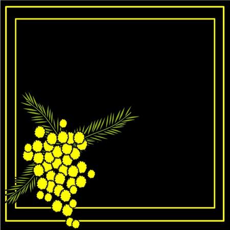 mimose: sfondo con mimosa Vettoriali