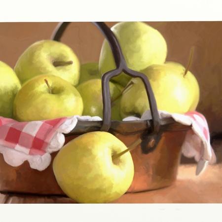 basket of apples  photo