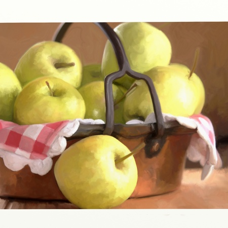tooled: basket of apples