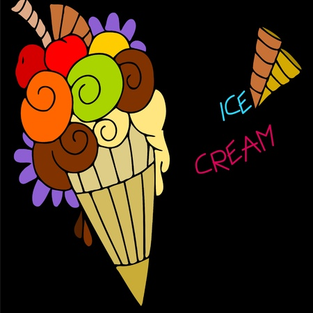 abstract background with ice cream