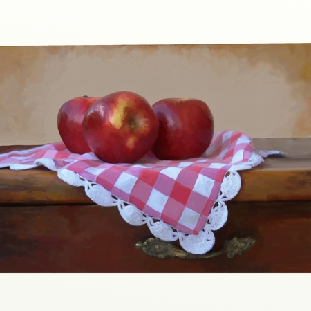 three red apples photo