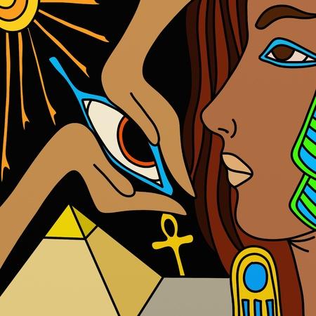 background profile of Egyptian women photo