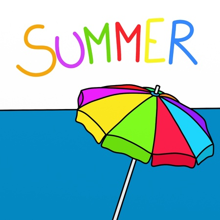 abstract beach with umbrella Stock Photo - 13653622