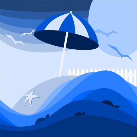 abstract background with waves at the beach Vector