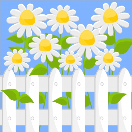 fantasy background with white flowers Stock Vector - 14348908