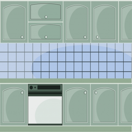 vector image with gray kitchen Stock Vector - 14348905