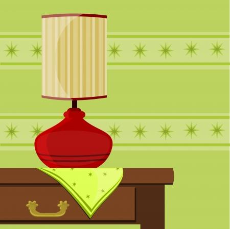vellum: illustrazione con spia rossa sul tavolo