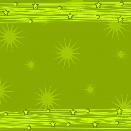 Christmas green background with decorations Vector