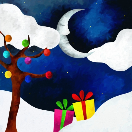 abstract background with christmas gifts photo