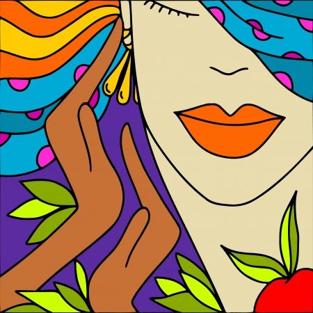 maquillaje fantasia: resumen de antecedentes con rostro de mujer