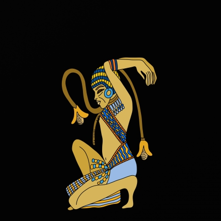tutankhamen: Background with particular egyptian relief Stock Photo