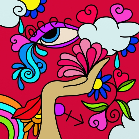 abstract background with fancy designs Stock Photo - 17045155