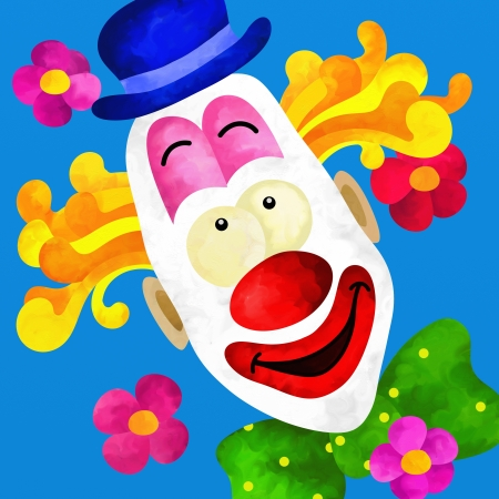 background with colorful clown face photo