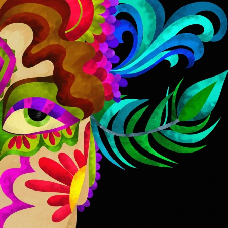 Abstract background with carnival mask Stock Photo - 17389880